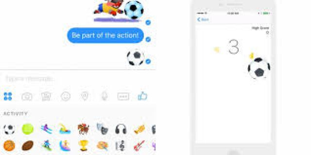 unlock and play a football keepy - uppy game on Facebook messenger games