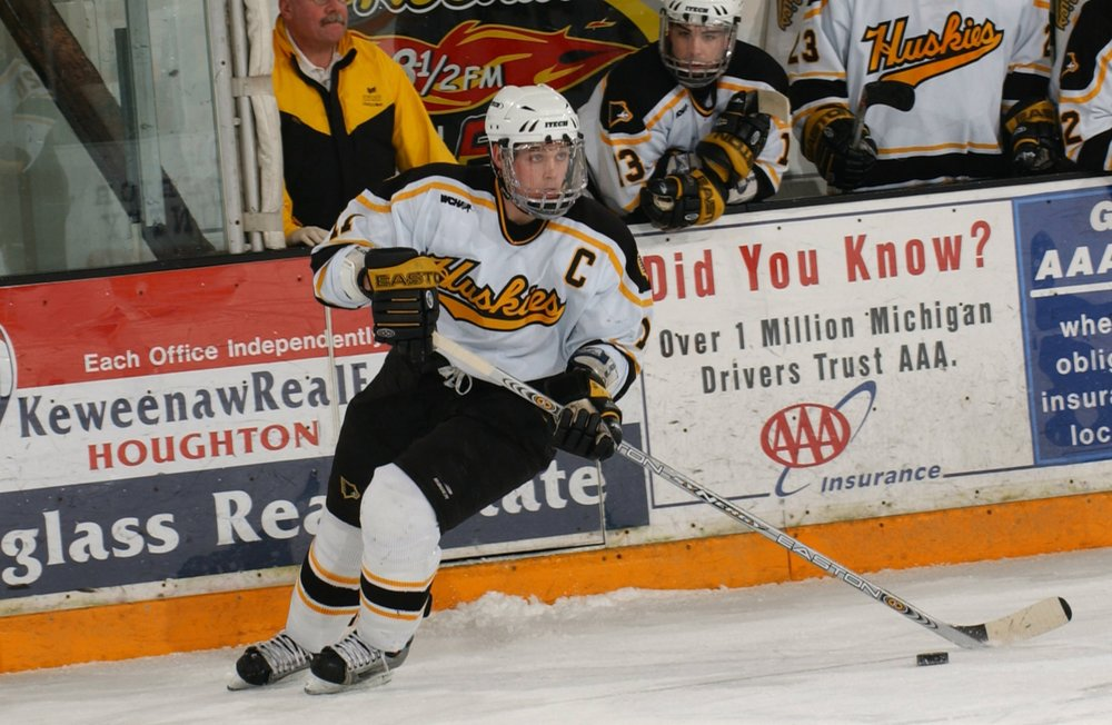 Colin Murphy was a star for the Fort McMurray Oil Barrons of the AJHL before his stellar career at Michigan Tech (Photo Courtesy of Michigan Tech).