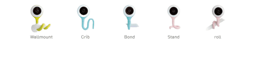 five mounting options - lollipop smart baby monitor review with pros and cons USA 2021