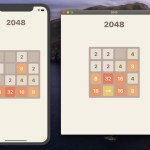 2048 game writing with SwiftUI