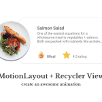 Motion Layout: Creating Simple Recycler View Animation
