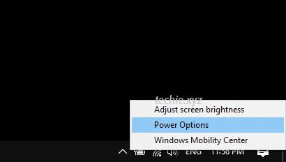 Masuk ke Power Options Windows 10