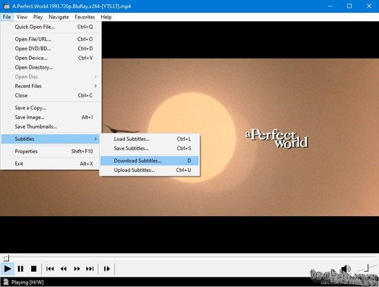 Cara Download Subtitle Film di Media Player Classic - File - Subtitles - Download Subtitles