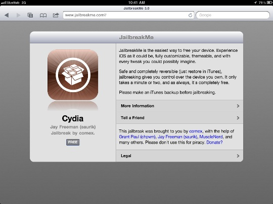 Jailbreak Your iPad 2 with Just One Click via JailbreakMe | TechieLobang