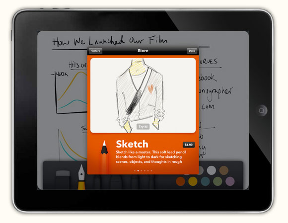 Paper App Lets You Draw, Sketch, Outline, Write, Color