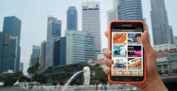 'Handy' device - a convenient smartphone rental service specifically designed for travellers visiting Singapore.