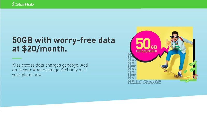 StarHub Introduces 50GB Worry-Free Data Add-On | TechieLobang