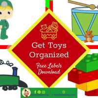 Toy Room Organization with Free Toy Bin Labels