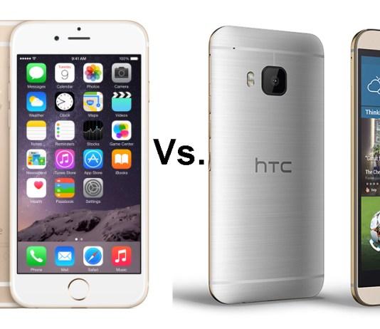HTC One M9 vs Apple Iphone 6 comparison