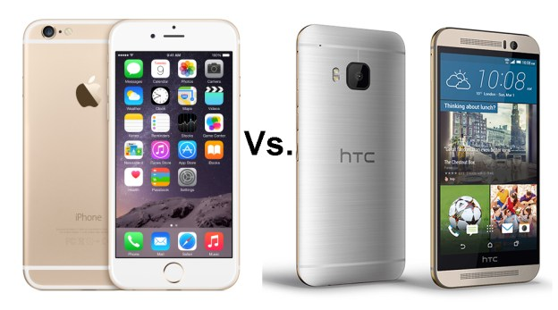 HTC One M9 vs Apple Iphone 6 comparison