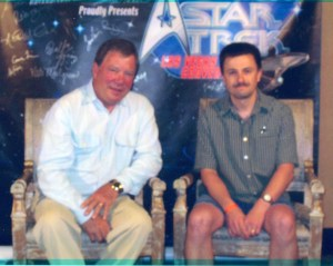 William Shatner pictured with Michael Srock