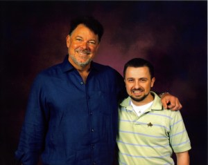 Jonathan Frakes pictured with Michael Srock