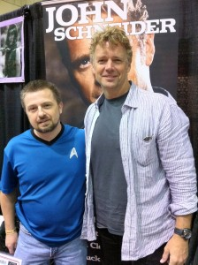 John Schneider pictured with Michael Srock