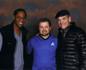 Tim Russ & Robert Picardo pictured here with Michael Srock