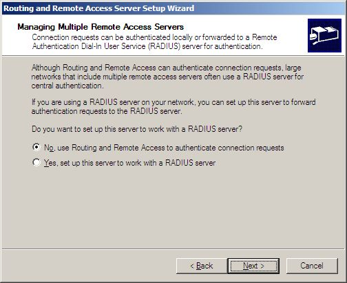 Managing Multiple Remote Access Servers