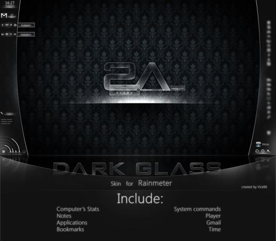 MOD Dark Glass for Rainmeter