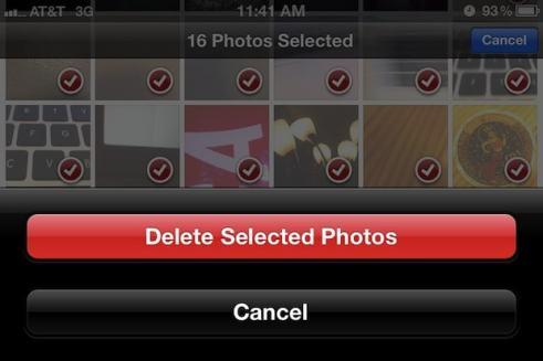 delete photos on iphone