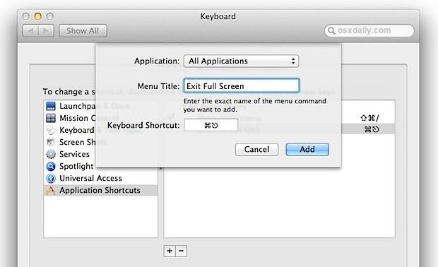 Making Keyboard Shortcuts