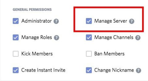 manage server permissions