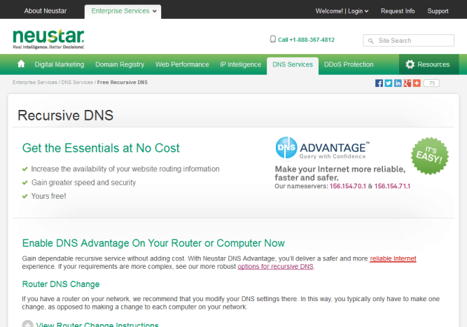DNS Advantage