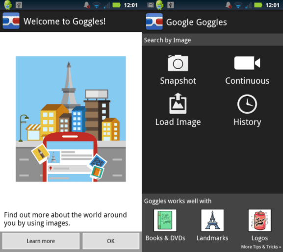 Google Goggles For Android