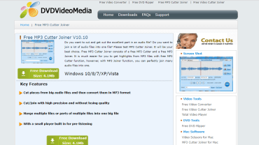 DVDVideo Media Free MP3 Cutter Joiner Review