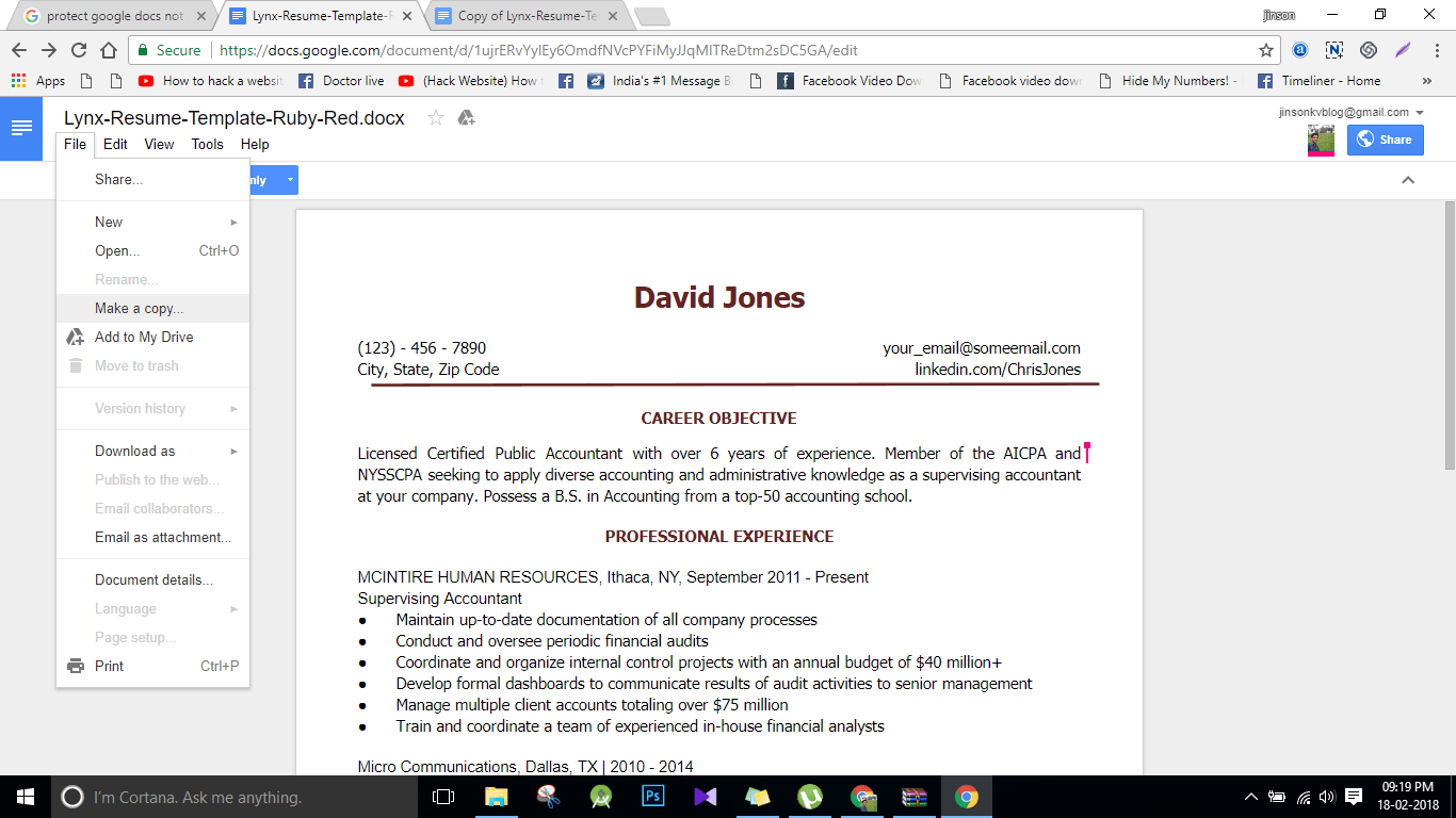 Google Docs Resumes Templates Google Doc Resume Template Sarahepps