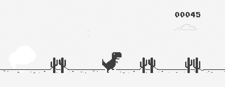 How to play Google Chrome Dinosaur Game? With and Without