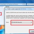 Backup and restore of windows 7 operating system using windows system