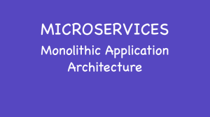 Monolithic Application Architecture