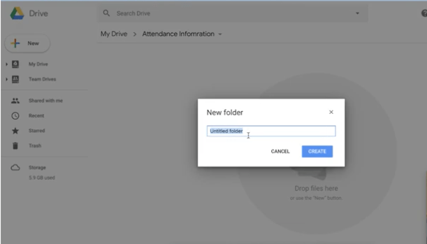 Creating Folders, Subfolders, and changing color in Google Drive