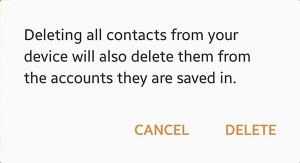 Delete All Contacts Android