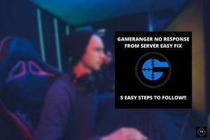 Gameranger No Response From Server Error [Solved] | 5 Easy Steps To Follow