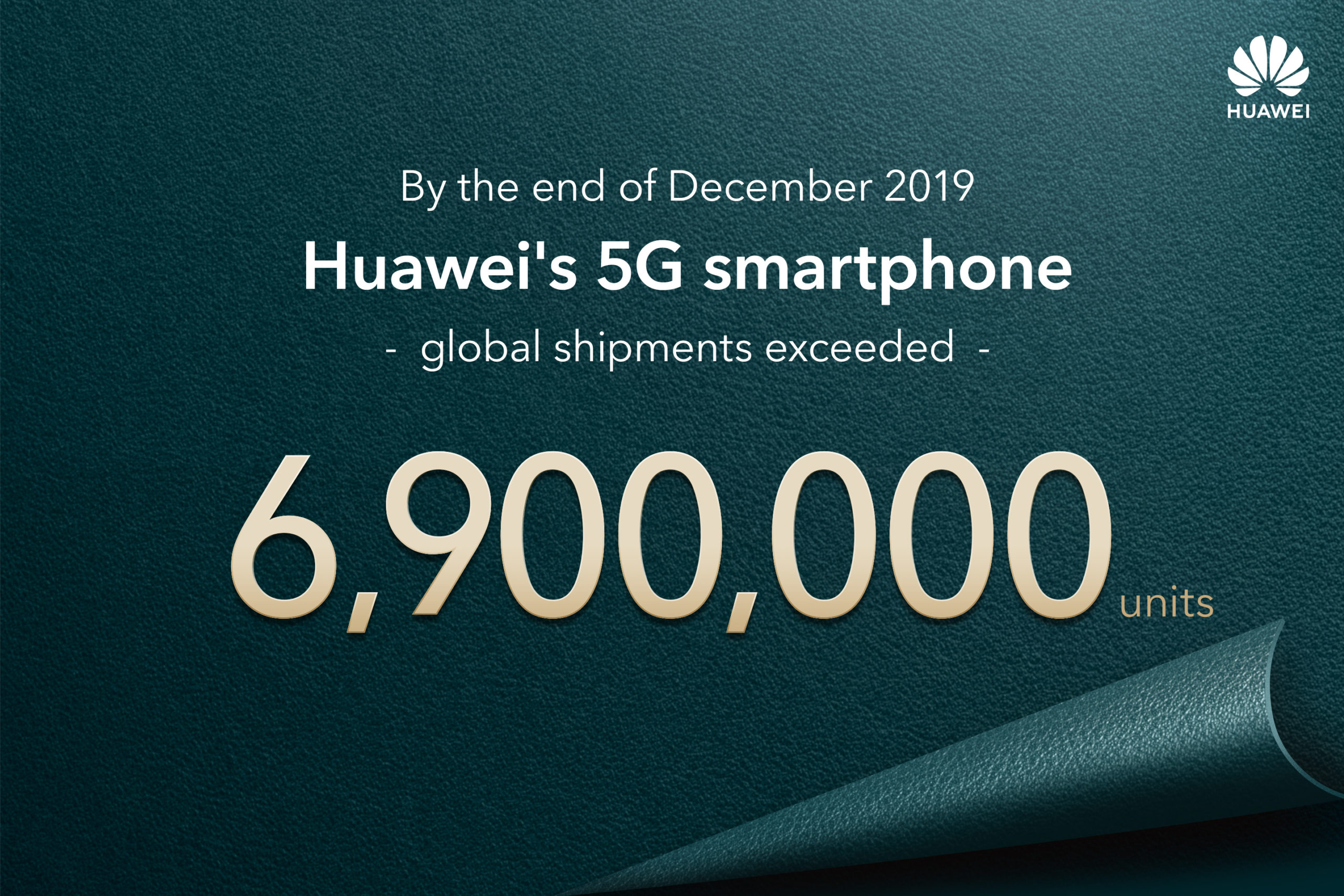 Huawei shipped 6.9 million 5G smartphones in 2019, bringing next-generation connectivity to the world 1