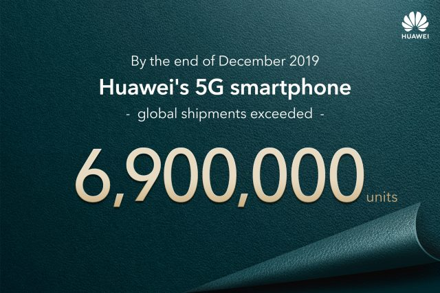 Huawei shipped 6.9 million 5G smartphones in 2019, bringing next-generation connectivity to the world 2