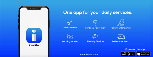 Invaito | App That Connects Customers And Service Providers.