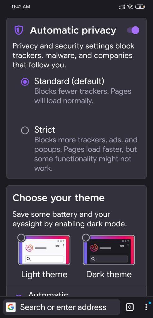 Updated Firefox Android  Bottom URL Bar, Dark Mode & More