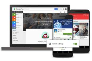 Google Play store Launches Family Library