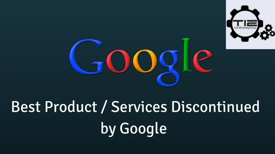 Products discontinued by Google