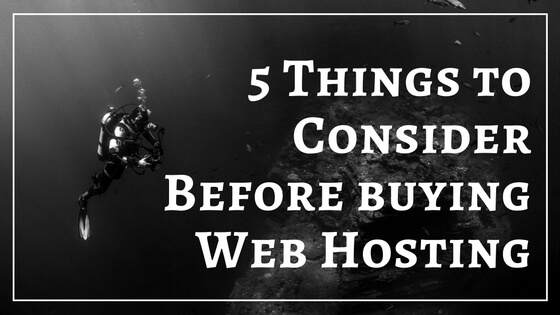 Things to consider before buying web hosting