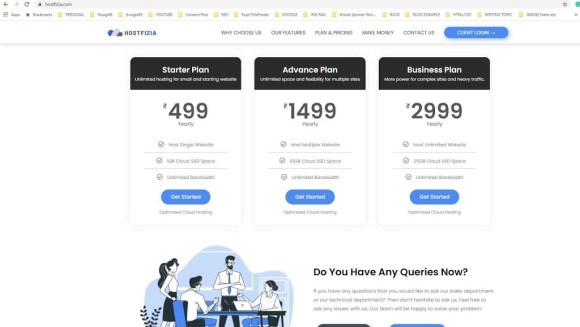 Cheapest and best plan by Hostfizia