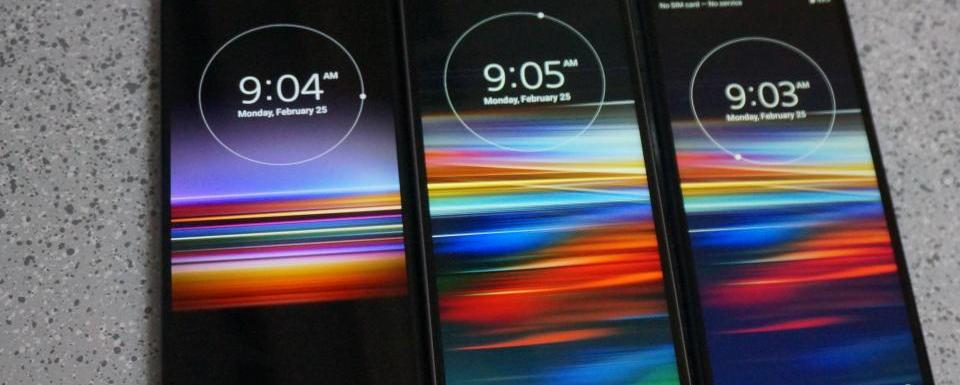 """SONY XPERIA 1, 10 and 10plus """"Smartphones with the widest screens"""""""