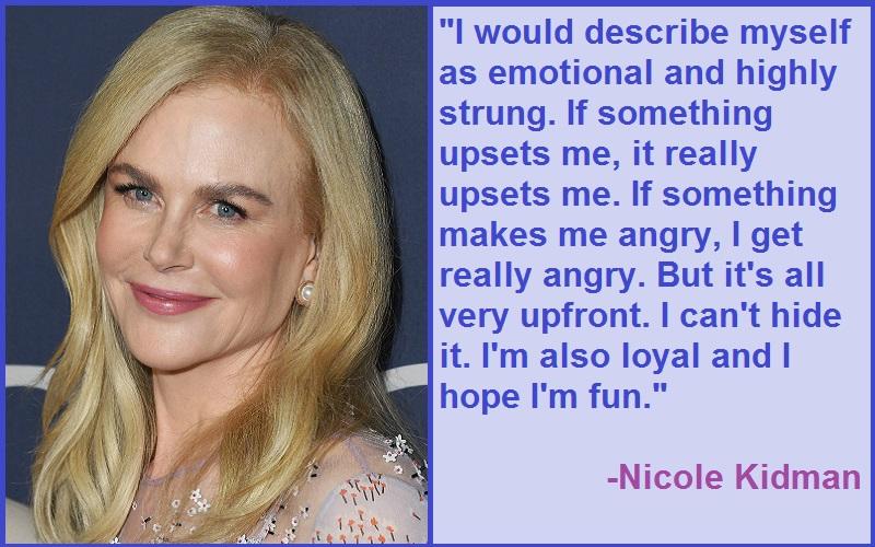 Inspirational Nicole Kidman Quotes