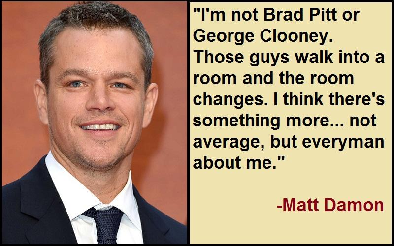 Motivational Matt Damon Quotes