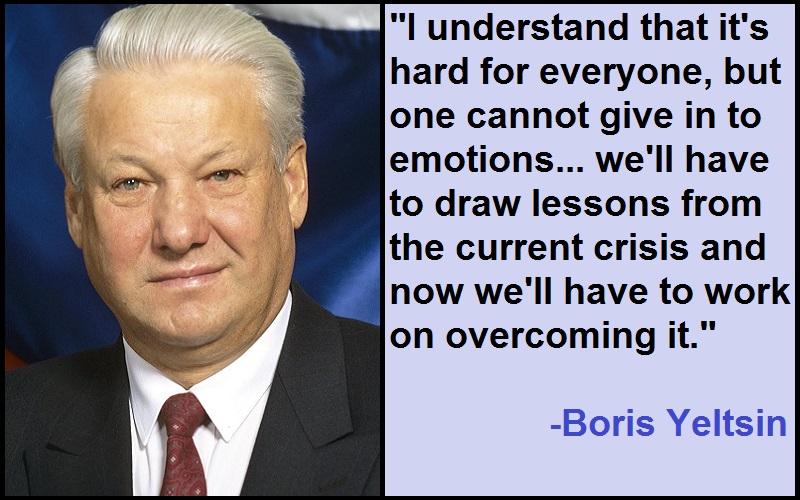 Inspirational Boris Yeltsin Quotes