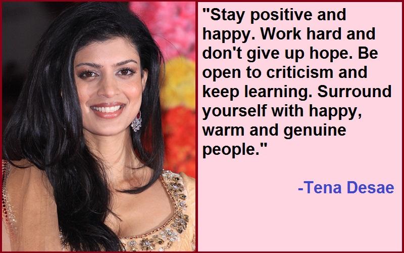 Inspirational Tena Desae Quotes