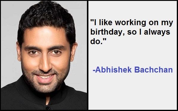 Inspirational Abhishek Bachchan Quotes
