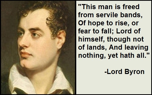 Inspirational Lord Byron Quotes