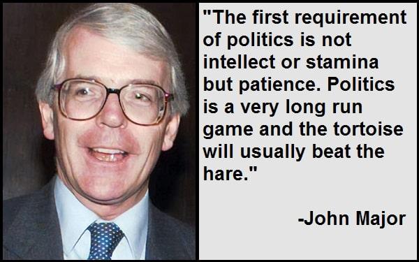 Inspirational John Major Quotes