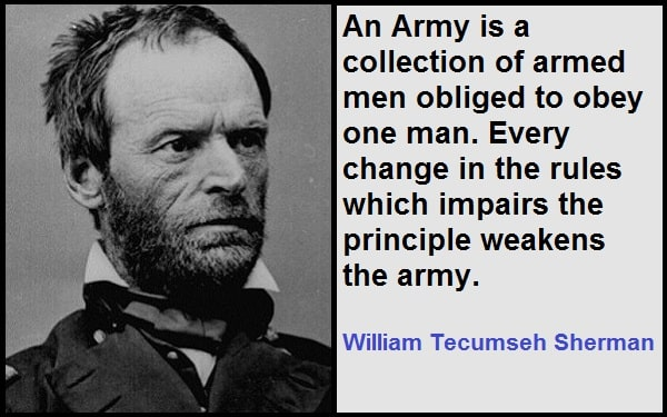Inspirational William Tecumseh Sherman Quotes